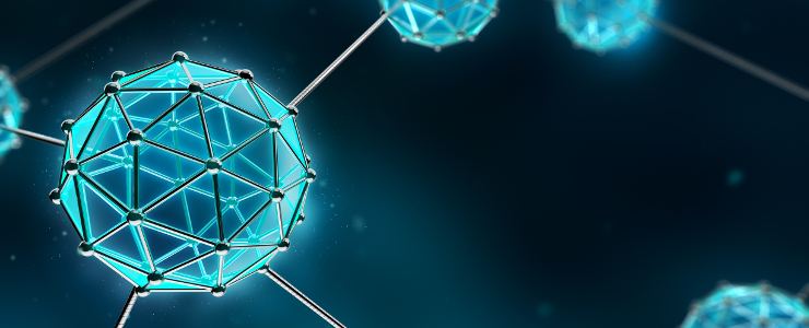 Nanotechnology Atom and Molecule - Abstract background