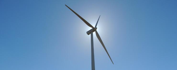 Foto exterior - energía eólica-casas-electricidad-generación